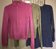 Mixed Lot Sweaters Green Pink Blue Women's M 8-10