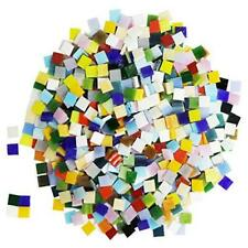 1000 Pieces Mixed Color Mosaic Tiles Mosaic Glass Pieces for Square,1 by 1 cm