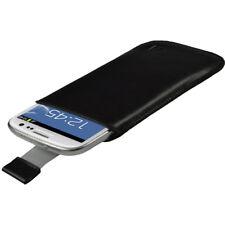 Negro Funda Cuero Piel para Samsung Galaxy S3 III i9300 Android Smartphone