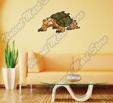 "Cute Angry Snapping Turtle Funny Wall Sticker Room Interior Decor 25""X14"""