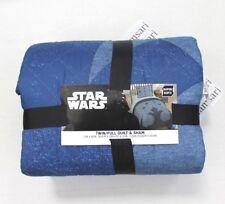 Star Wars Blue Twin Full Super Soft Quilt & Sham Set