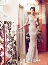 Riki Dalal Couture Wedding Dress 1402 Toscana Collection White lace UK 8
