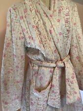 Shabby Chic 1940's quilted Roses full length robe Paulette Original of Chicago