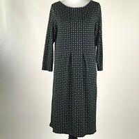 J. Jill Wearever Collection Women Black Printed 3/4 Sleeve Short Dress sz XS