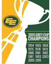 Edmonton Eskimos Grey Cup Champions Wall Art Poster, 8x10 Color Photo