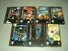 Lot of 7 PS1 Longbox gms all CIB Complete in GOOD COND! Jumping Flash, Top Gun!