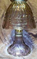 "Vintage Fenton 3 Piece Iridescent Cranberry Glass Fairy Lamp 9.5"" x 5.75"" RARE"