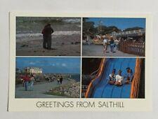 IRISH POSTCARD,GREETINGS FROM SALTHILL,GALWAY,IRELAND