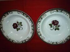 "2pcs Metlox Poppytrail California Provincial Rose 8 1/4"" Soup Plates/Bowls"