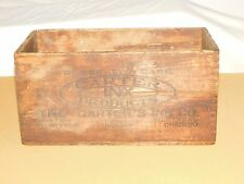 VINTAGE PENS CARTER INX PRODUCTS BLACK BOTTLE  FOUNTAIN INK WOOD BOX CRATE