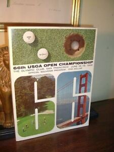 1966 US Open Golf Program USGA  The Olympic Club San Francisco Billy Casper RARE