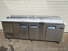 "New Equipchefs 93"" Refrigerated Pizza prep Table Picl-3 On Casters Picl3"