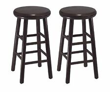 Winsome Wood Assembled 24-Inch Swivel Stools, Set of 2