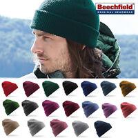 Beechfield Heritage Cuffed/Slouch Beanie - Casual & stylish winter hat men/women