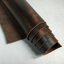 Tooling Leather 5-6oz Pre-Cut Oil-Brown Pull-up Genuine Cow Leather Hide Skin