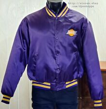 Los Angeles Lakers VTG Swingster Satin Lined Embroidered Logo Jacket Sz XL