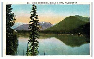 Early 1900s Lake Keechilus, Cascade Mountains, WA Postcard