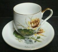 """Vintage """"July Water Lily"""" Fine Bone China Tea Cup and Saucer Set, Made in Japan"""