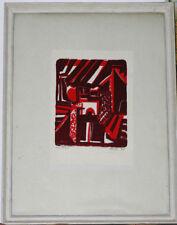 Gravure bois gravé couleur 1972 signature?