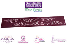 Printing Mesh Stencil | Doodle Calligraphy Ribbons | Cake Decorating Craft
