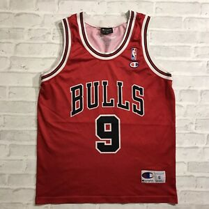 CHICAGO BULLS #9 LUOL DENG BASKETBALL JERSEY SHIRT RED CHAMPION TOP NBA S MEN'S