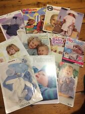 Job lot Babies/Childrens Knitting Patterns. New,Vintage