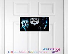 Personalised childrens man cave game room door sign plaque DC comics Batman