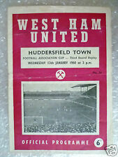 1960 WEST HAM UNITED v HUSSERSFIELD TOWN, 13th January (FA CUP 3rd RD REPLAY)