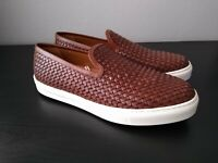 New Massimo Dutti Men's Braided Leather Casual Shoes NWT Euro 44 - US 10.5 Brown