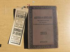 AGENDA ET ANNUAIRE DE LA MAGISTRATURE DU BARREAU 1933