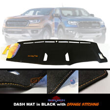 DASH MAT FORD RANGER PX MK3 Wildtrack 8/2018-2020 DM1535 BLACK +ORANGE Stitching