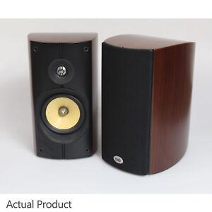 PSB Imagine B Loudspeakers Walnut - Bookshelf Speakers Curved BiWire - Boxed