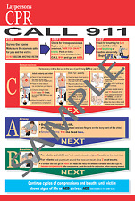 CPR and Choking Postcards LOT OF 50 - 2015 Guidelines