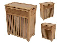 Wood Laundry Hamper Bathroom Storage Cabinet Bedroom Clothes Basket Organizer