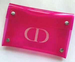 DIOR Makeup Cosmetic Bag Pouch Transparent PINK Vip Gift Very RARE