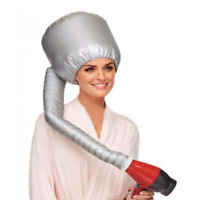 Hair Dryer Style Soft Hood Cap With Cap Blow Dryer Attachment-Grey