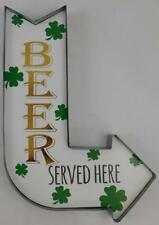 Ashland St. Patrick's Day Wall Decor New Metal Beer Served Here Arrow