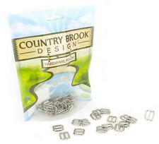 Country Brook Design® 25 - 1/2 Inch Metal Round Wide-Mouth Lite Weight Triglides