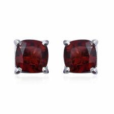 925 Sterling Silver Garnet Solitaire Earrings Gift Costume Jewelry for Women