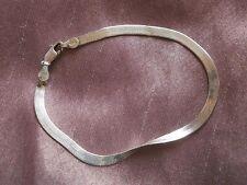 Bracelet en argent massif à maille miroir - Sterling 925