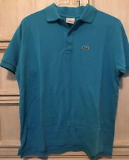 Lacoste Mens Blue Polo Shirt Short Sleeve Size 5 Medium EUC
