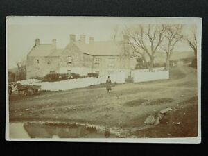 Wales UNIDENTIFIED FARM c1911 RP Postcard posted from BURRY PORT - Llanelli