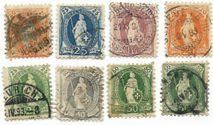 Suisse, 1882 / 1907 - (Achat groupé : livraison gratuite dès 5 lots)