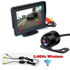 "4.3"" TFT LCD Mirror Monitor + LED Reversing Wireless Backup Camera Car Rear View"