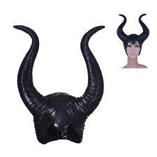 Women Party Costume Jolie Cosplay Halloween Latex Maleficent Horns Magic Horror
