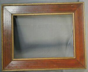 Antique Arts Crafts Gilt Varnish Wood Cassetta Picture Frame 11x15 1905 Vintage