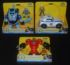 MR. FREEZE & ROBOT, GORDON POLICE CAR & ROBIN MECHANICAL SUIT Imaginext MIP