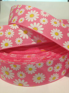 "Daisy Grosgrain-Ribbon  25mm/7/8"" width  Print-by-the-Metre"
