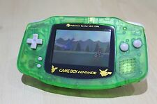 Pokemon New Refurbished Game Boy Advance Console CLEAR GREEN New Body & Screen