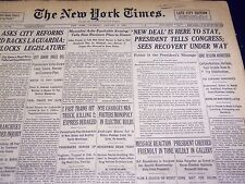 1934 JANUARY 4 NEW YORK TIMES - NEW DEAL IS HERE TO STAY - NT 3997